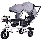 MAOSF Sillas de paseo Silla de paseo doble, bicicletas dobles, trolley para bebés de
