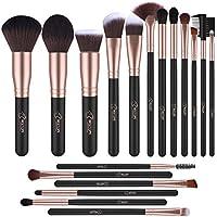 BESTOPE Makeup Brushes Professional Makeup Brush Set 18PCs Make Up Brushes Premium Synthetic Foundation Brush Blending Face Powder Blush Concealers Eye Cosmetics Make Up Brush Kits