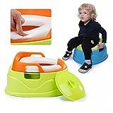 HM Wc Tripla Giocattolo Baby Toilette Toilette in Plastica Wc per Bambini Wc Ciotola Casa,Verde