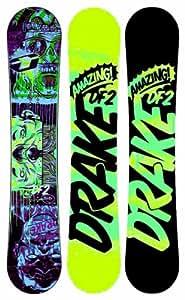 Drake Men's DF2 Plus Reload Board Bindings Set - Yellow/Blue/Black/Yellow, Size 154/Medium