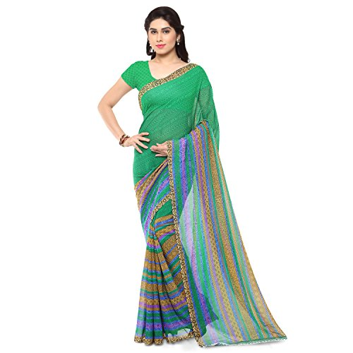 Anand Sarees Saree with Blouse Piece (1164_4_Green_Free size)