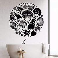 Bathroom Decor Ocean Sea Seashells Wall Sticker Seashells Removable Vinyl Decals Home Decor Bathroom Design Art Mural Size 42 * 42Cm