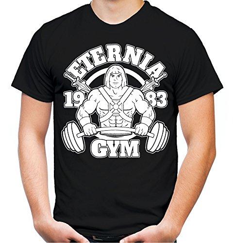Shirt Kostüm Mann T He - Eternia Gym Männer und Herren T-Shirt | Skeletor He-Man Masters of The Universe Motu (Schwarz, XXXL)