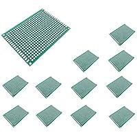 Lezed Prototipo de Circuito Impreso de Doble Cara PCB Prototipo Placa Soldar Circuitos Proyectos Electrónicos de Soldadura de PCB para Soldadura DIY y Proyecto Electrónico 5 x 7cm 12 Piezas
