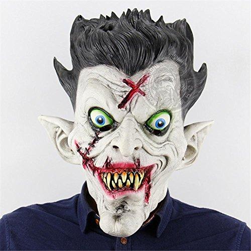 Full Head Holder Halloween Bar Haunted Haus Tanz Requisiten Latex Scary Maske (Halloween Von Rob Zombie Full Movie)