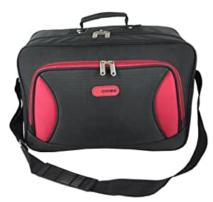 5 Cities/Frenzy Lightweight Cabin Size Flight Carry-On Bag. Ryanair and Easyjet Hand Luggage Approved (under 55x40x25 & 50x40x25). Hand & Adjustable Shoulder Strap. (Black 390)