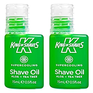 King of Shaves Supercooling Mens Shaving Oil 15ml TWIN-PACK