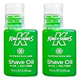 King of Shaves Aceite de afeitar superrefrescante, 15 ml, paquete por dos unidades