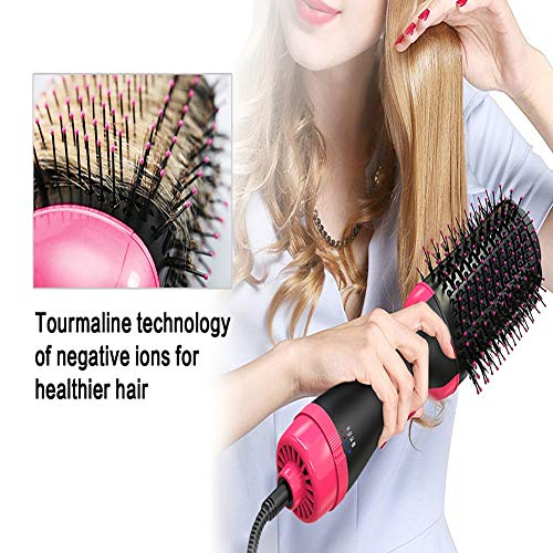 Step Haartrockner Heißluftpaddel Styler Negativ Ionenglätter und Lockige Bürste für alle Haartypen,USregulations ()
