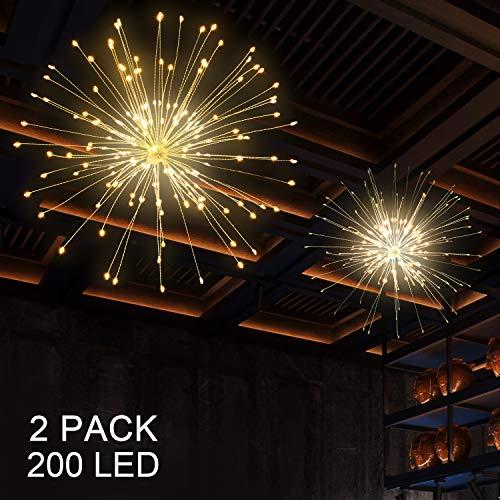 Outdoor Hängenden Dekorationen - BizoeRade 2 Stück Feuerwerk Licht, 200