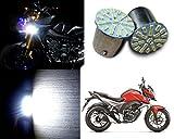 Auto Pearl - Premium Quality High Brightness 22 SMD White LED Bike Front Indicator Bulb Turn Signal Light Set of 2 Pcs. For - Honda CB Hornet 160R