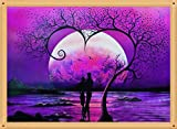 Romantische Liebe Baum 5D Diamant Malerei Kits cloodut Strass Stickerei Kreuzstich Arts Craft für Home Wand-Decor violett