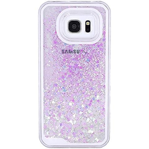MerryBIY Liquido Custodia per Samsung Galaxy S7 Edge, Brillare Acqua