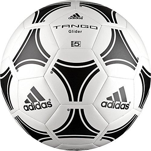 Adidas - Pallone da calcio per adulti, Tango Glider, colore: Bianco/Nero, misura: 5, S12241