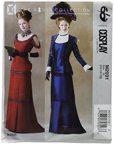 Cosplay von McCall 's Victoria Plissee Kleid und Jacke, Mehrfarbig, Größe 12-16 (Kleider 13 Größe)