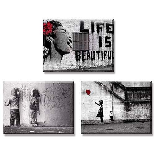 Piy Painting 3X Impression sur Toile de La Vie est Belle...