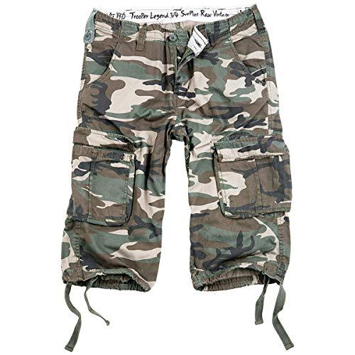 Surplus Trooper Legend 3/4 Shorts 6XL Woodland Cord-bermuda