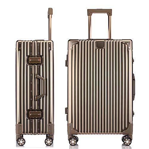 SHJMANSU Handgepäck Hartschalen-Koffer Trolley Handgepäck Gepäck Hartschalen-Reisetasche Leichte 4 Spinner-räder 36 * 20 * 50cm, Champagne Gold -