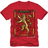 Game of Thrones Lannister Stained Glass Mens Red T-Shirt