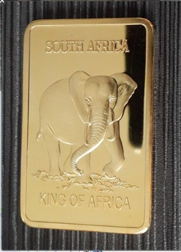 Krügerrand Elefant 1 Oz Gold Goldbarren Barren 999 24K verg. King of Africa © Exkl. von WoC (Goldbarren 1 Oz)