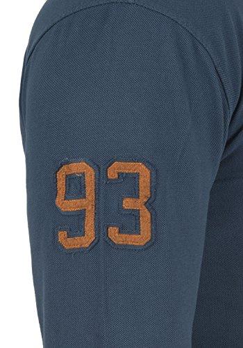 BLEND Dahoud Herren Poloshirt Shirt Longsleeve Navy (70230)