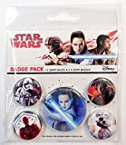 1art1 Star Wars - Episodio VIII, Gli Ultimi Jedi, Resist, 1 X 38mm & 4 X 25mm Badge Set di Badge (15 x 10cm)