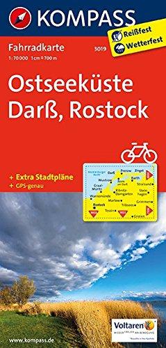 Carta cicloturistica n. 3019. Osteeküste, Barss, Rostock 1:70.000. Adatto a GPS. Digital map. DVD-ROM: Fietskaart 1:70 000