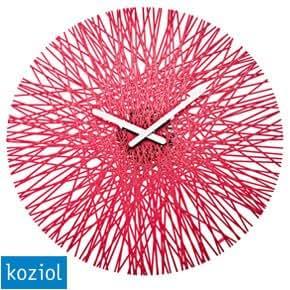 Koziol Silk Horloge murale-Rouge framboise