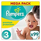 Pampers - Premium Protection - Couches Taille 3 (5-9 kg) - Mega Pack 99 Couches