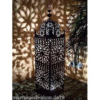orientalische laterne aus metall schwarz frane 105cm gro marokkanische gartenlaterne f r. Black Bedroom Furniture Sets. Home Design Ideas