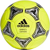 adidas Conext 19 Capitano Ball Balón de Fútbol, Unisex, Amarillo (Solar Yellow/Black/Silver Metallic), 5