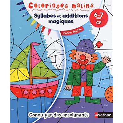 Syllabes et additions magiques CP : Cahier double