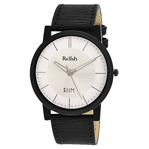 RELISH RE-S8017BW SLIM White Dial Analog Watch For Mens & Boys