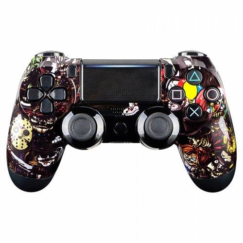 Controller Monkeys - PS4 Oberschale für JDM-040 /-041 /-030 /-050 /-055 Controller - Glänzend Design (Halloween)
