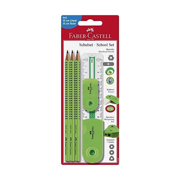 Faber-Castell 217066– Juego Grip con regla y accesorios Sleeve.