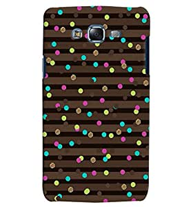 Citydreamz Colorful Dots/Brown Stripes Hard Polycarbonate Designer Back Case Cover For Samsung Galaxy Grand 2 G7102