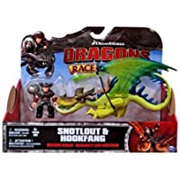 Dreamworks Dragons Snotlout & Hookfang Green Action Figure