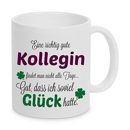 Eine richtig gute Kollegin - Danke sagen auf eine besondere Art. Tasse mit Spruch Kaffee Becher...