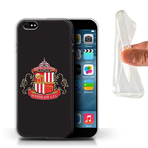 Offiziell Sunderland AFC Hülle / Gel TPU Case für Apple iPhone 6S+/Plus / Pack 6pcs Muster / SAFC Fußball Crest Kollektion Schwarz