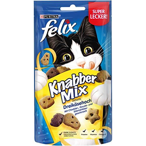 FELIX KnabberMix Katzen-Leckerlis mit Proteinen, Vitaminen & Omega 6, Katzen-Snacks ohne Zusatz k