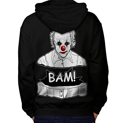 Clown Scary Creep Horror Men M Kapuzenpullover Zurück | Wellcoda