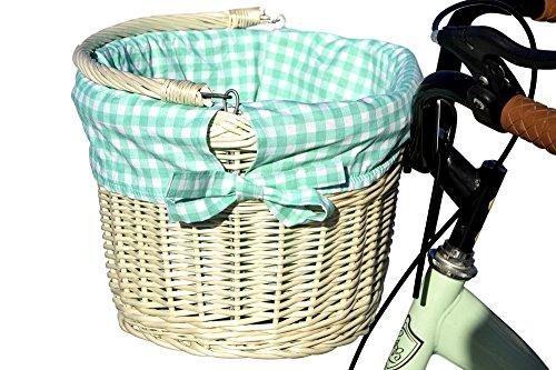 123home24.com Weidenkorb für Ein Fahrrad aus natürlichen Weißen Wicker (5) Fünf Weidenkörbe