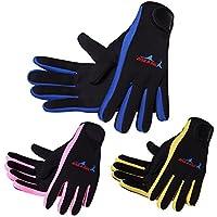 NaiseCore Traje DE 1,5mm Guantes de Neopreno Premium Scuba Diving Five Finger Glove Blue