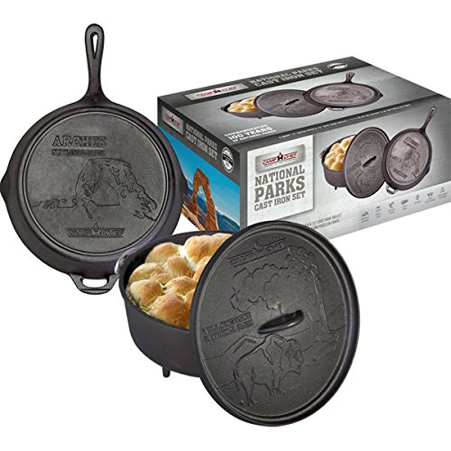 Camp Chef 12\' Gusseisen Set Nationalpark Dutch Oven + Pfanne