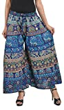 MIRAV FASHION Cotton Printed Stylish Multicolour Plazzo Pants For Women/girls (Assorted Colour & Assorted Design) (Blue)