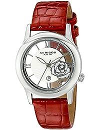 Akribos XXIV Reloj con movimiento cuarzo japonés AK837RD Rojo 34 mm