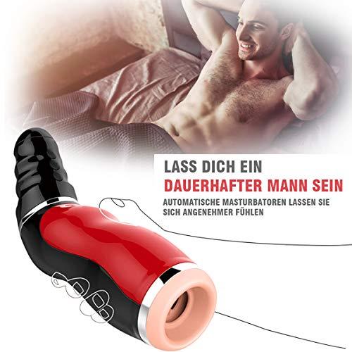 Automatischer Masturbator Nabini Elektrischer Vibrator Sexspielzeug Manner Masturbieren mit 10 Vibrationsmodi Mund Oral Sex Men Cup mit USB Kabel ¡ - 5
