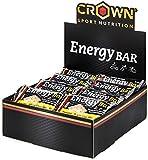 Crown Sport Nutrition 18 x Energy Bar (60g), Barritas de avena energéticas sin cobertura con extra de proteína para deportistas, Sabor de Banana Chocolate Blanco