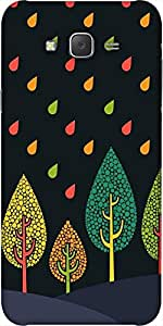 Snoogg Tree Cool Designer Protective Back Case Cover For Samsung J7