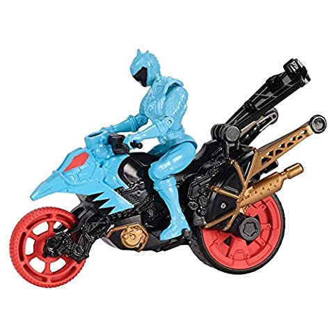 Power Rangers Dino Super Charge Cycle and Blue Figure
